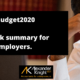 budget 2020 for entrepreneurs